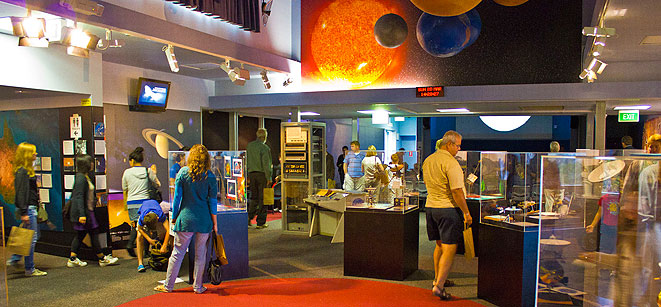 People looking at displays in Visitor Centre