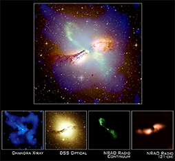 Download link image showing a galaxy in four different types of light